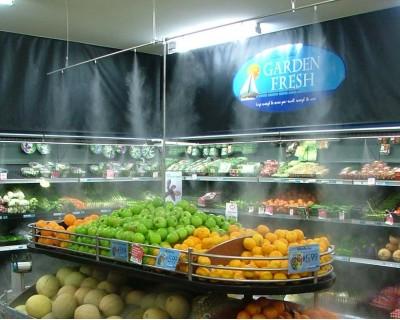 Системы тумана высокого давления для витрин